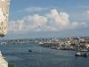 Blick auf die Hafenanlagen